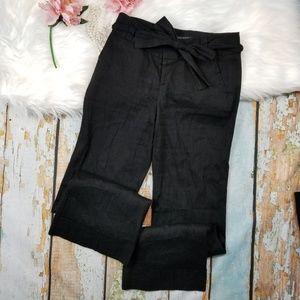 Banana Republic Martin Fit linen black pants